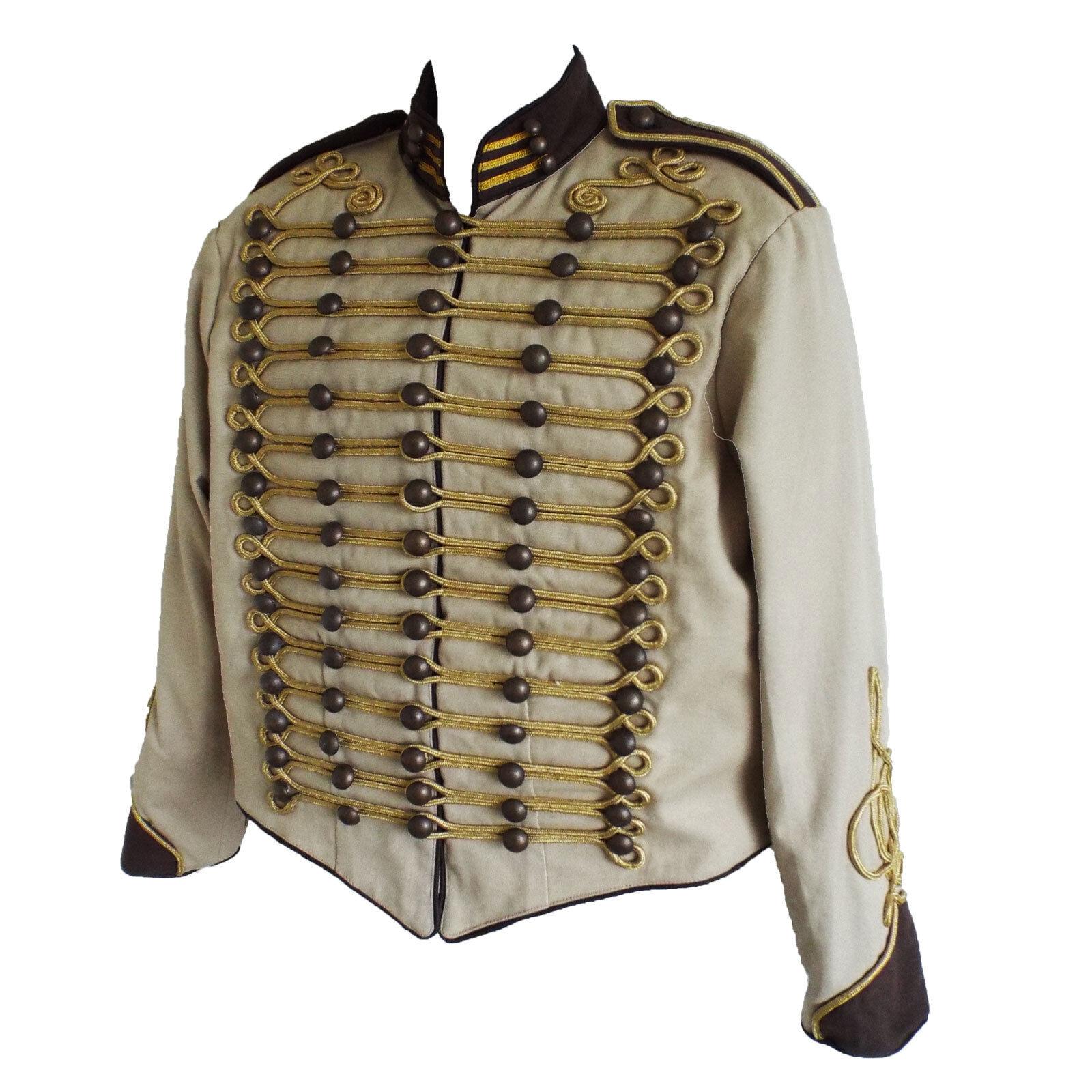 "/""Steampunk/"" Military Jacket by SDL in blue navy trim /& gold braid decoration"