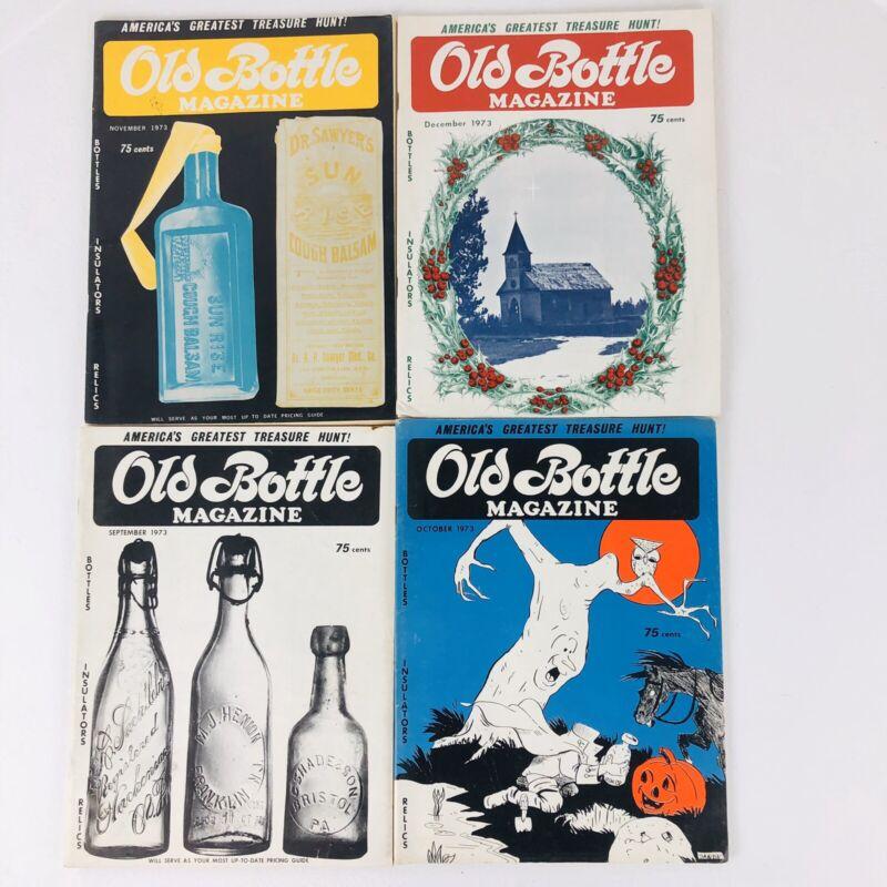 Old Bottle Magazine September-December 1973 Lot of 4