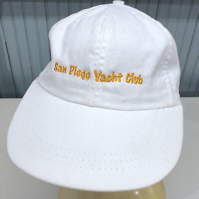 San Diego Yacht Club Strapback Baseball Cap Hat Swingster Made in USA