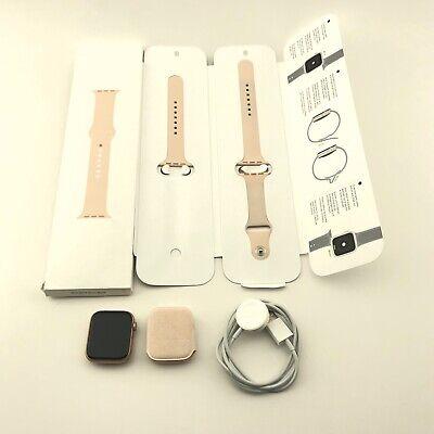 Apple Watch Series 5 44mm Gold Aluminium w. Pink Sand Sport Band (GPS + CEL)