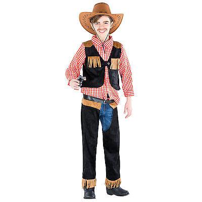 Jungenkostüm Cowboy Sheriff Western Wilder Westen Fasching Karneval Chaps