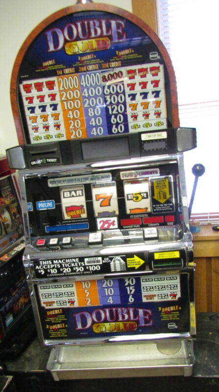 """IGT S2000 """"DOUBLE GOLD"""" SLOT MACHINE (COINLESS)"""