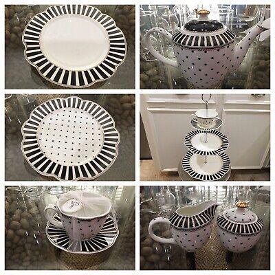 Grace's Teaware Josephine Black & White Dishes