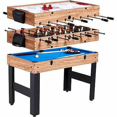MD Sports 48 Inch 3-In-1 Combo Game Table 3 Games with Billiards Hockey