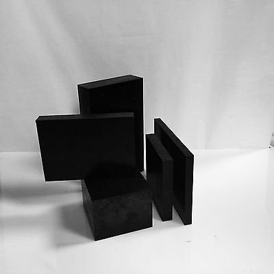 3.0 Black Delrin Acetal Plastic Sheet - Priced Per Square Foot- Cut To Size
