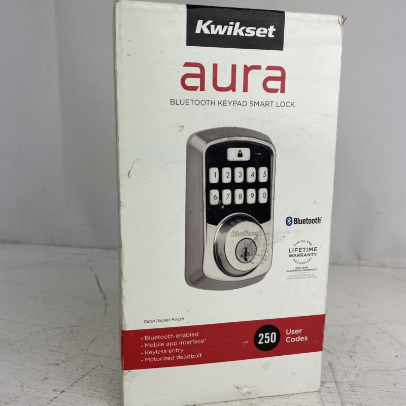Kwikset Aura Bluetooth Keypad Deadbolt, Satin Nickel (99420-001)