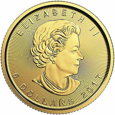2017 1/10oz Gold Canadian Maple Leaf BU