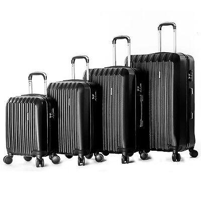 """TRAVEL 4 Piece ABS Luggage Set Light Travel Case Hardshell Suitcase 16""""20""""24""""28"""""""
