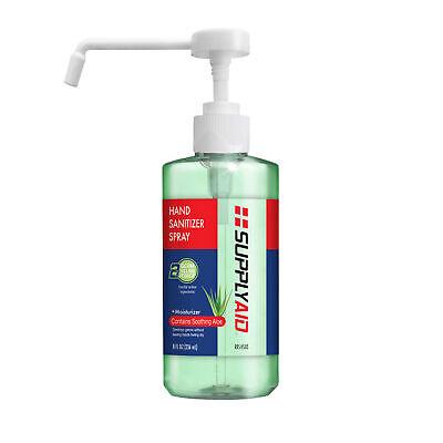 SUPPLYAID RRS-HS8B Dual Action Hand Sanitizer Spray w/Soothing Aloe   8-Oz