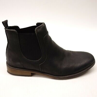 J75 By Jump Mulligan US 9 Black Leather Chelsea Ankle Mens Boots