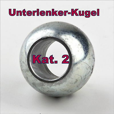 Fangkugel Kugel für Unterlenker KAT II Schnellkuppler Fanghaken Kat 2 Neu OVP