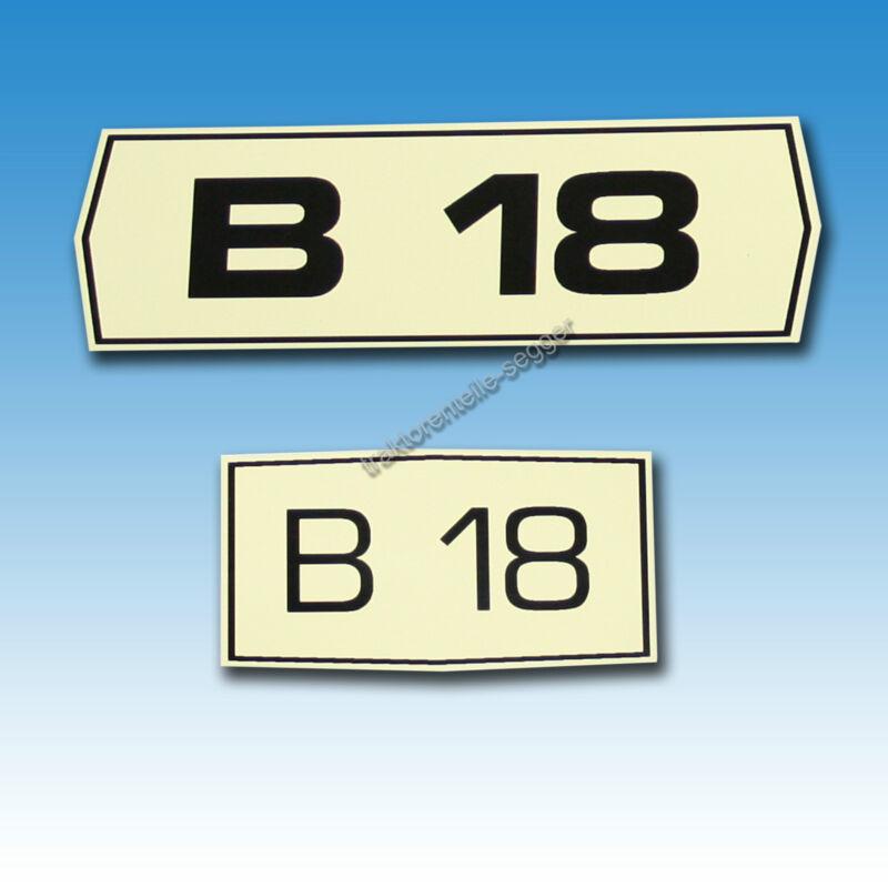 Satz Typenaufkleber für Holder B 18 Traktor Schlepper 01545 Foto 1