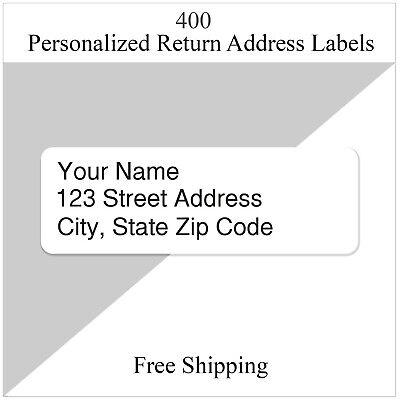 400 Return Address Labels Personalized Printed Custom 12 X 1 34 Inch