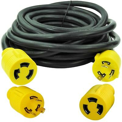 Leisure Cords NEMA L5-30 3 Prong 30 Amp Generator Extension Cord 25 ft.