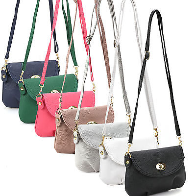 Ladies Small Satchel Leather Handbag Crossbody Shoulder Messenger Totes Bags - Small Totes