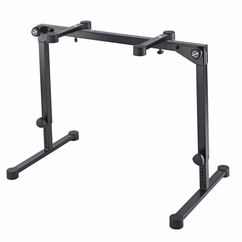 K&M 18820 Black Omega Pro Table-style Keyboard Stand with Folding Legs