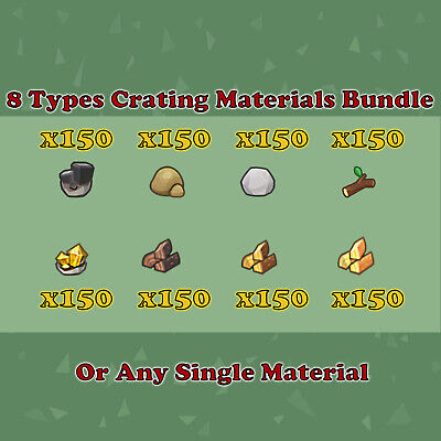 8 Types Materials Bundle - Or Any Single Material - Animal Crossing New Horizons