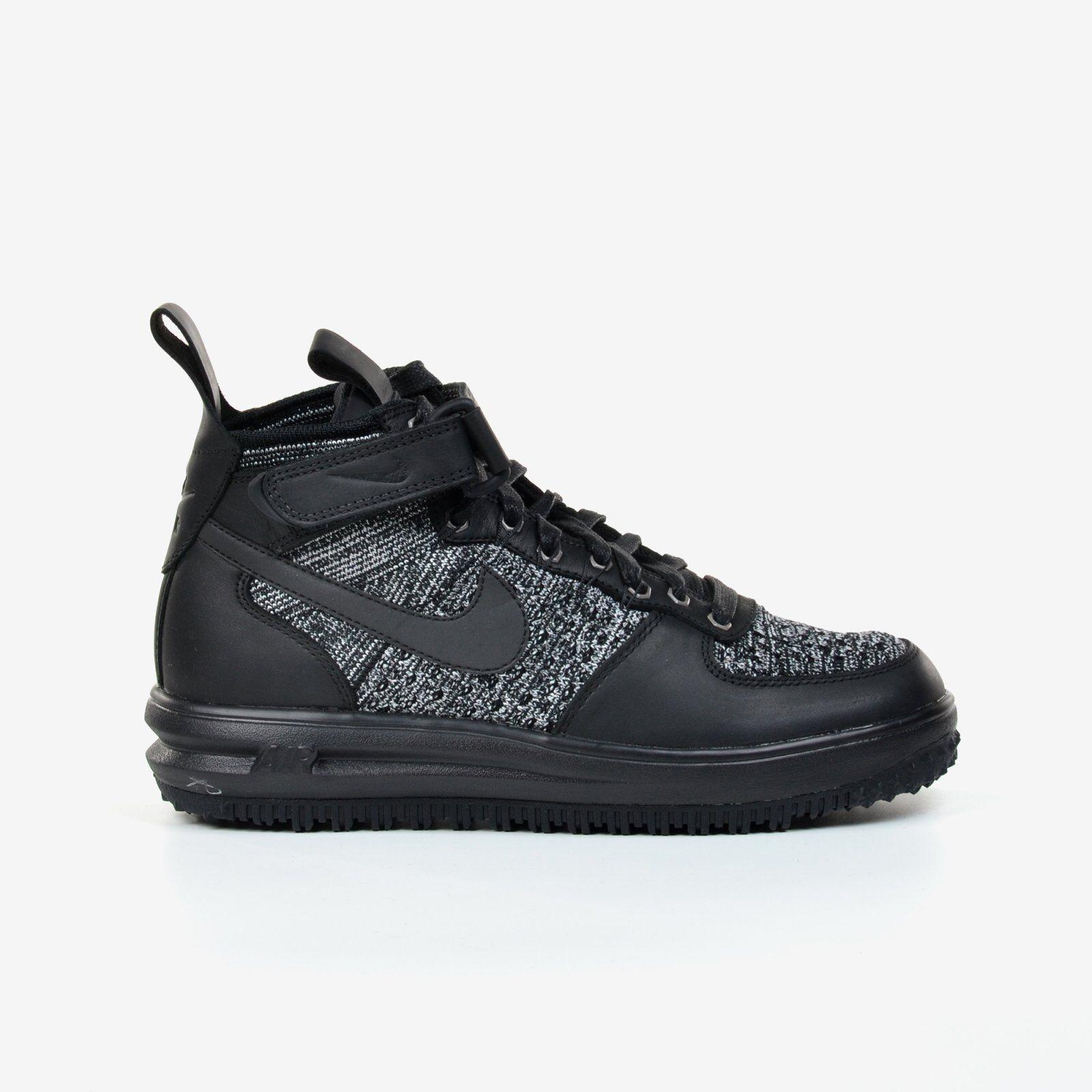 new product f9ba0 d031e Nike Women s Lunar Force 1 LF1 Flyknit Workboot Black Grey 2017 White 860558 -001