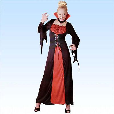 Kostüm Vampirin Gr. 38-42 Lady Vamp Vampiresa Kleid Vampirkostüm Vampir  - Lady Dracula Kostüm