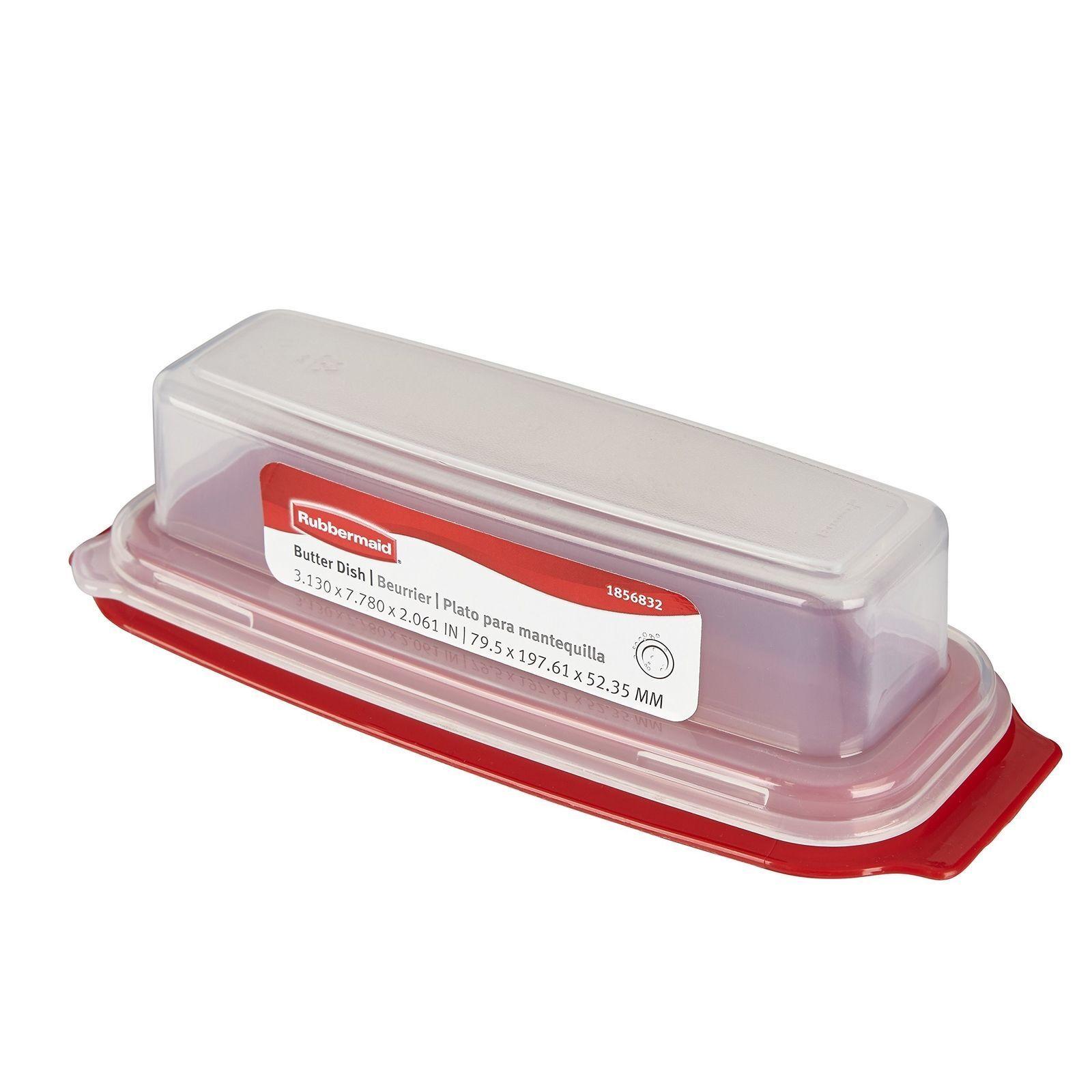 Rubbermaid White Plastic Butter Dish 3930-RD-CLR