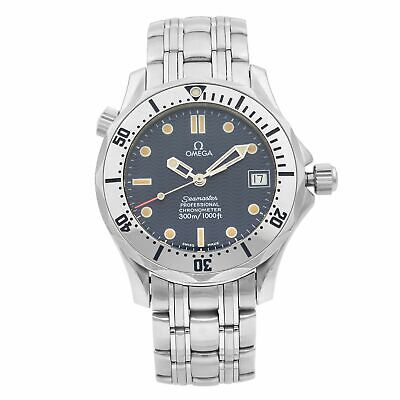 Omega Seamaster Stainless Steel Blue Dial Automatic Mens Watch 2552.80.00