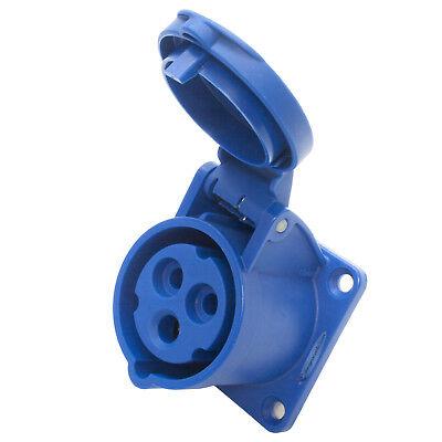 230v 6 Outlet (16amp 230V 2P+E Straight Flush Mounting Panel Female Socket OUTLET. PCE 313-6F6)