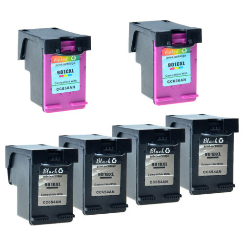 901xl 4x Color 2x Black Ink For Hp Officejet J4580 J4624 ...