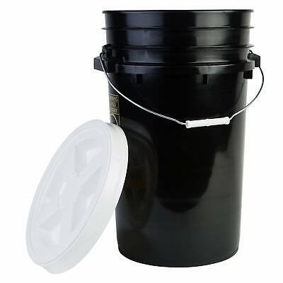 Hudson Exchange Premium 7 Gallon Bucket With Gamma Seal Lid Hdpe Black