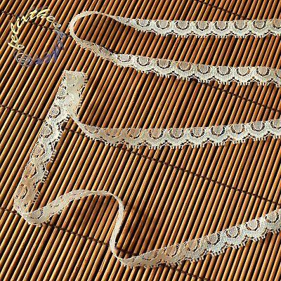 10m weiße zarte 15mm breite Spitze Spitzenband nähen basteln dekorieren