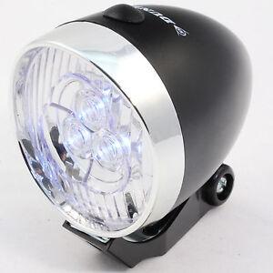 Dunlop LED Fahrradlicht mit 3 LED Fahrradlampe Fahrradleuchte Frontlicht Retro