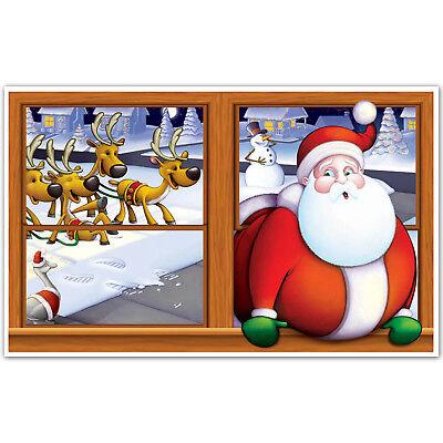 Merry Snowmen Christmas Scene Setter Insta View Santa Stuck Prop Decoration
