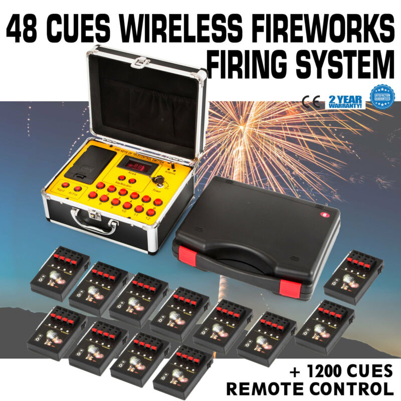 2020NEW+48 Cues FCC Fireworks Firing System+1200Cues Fireworks Remote Control