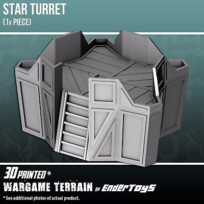 Star Turret, Terrain for Tabletop 28mm, 3D Printed and Paintable, EnderToys