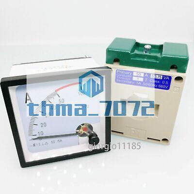 Ac 0 50a Analog Amp Current Panel Meter Ammeter Current Transformer