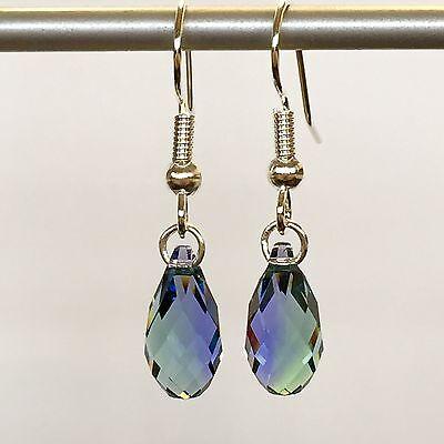 Lavender Dangle (Dangle Earrings W/Swarovski Elements in Surgical)