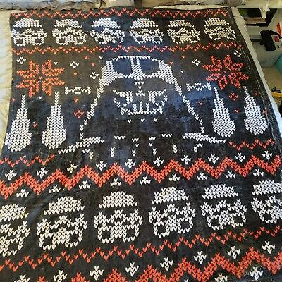 Star Wars ugly Christmas sweater Throw Soft blanket tagless