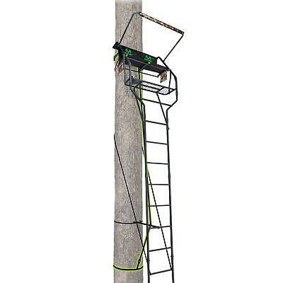 Realtree Camping And Outdoor Gear, TreeStand Deluxe Two-Man Ladder Black New