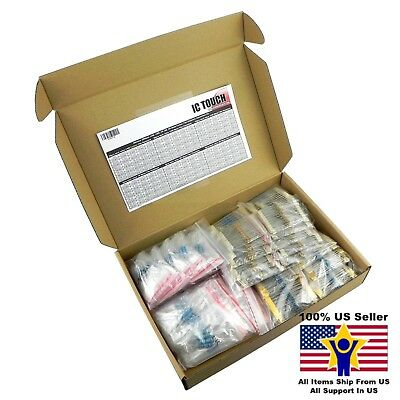 300value 2800pcs Carbon Metal Film Resistor -1 Box Kit Us Seller Kitb0148