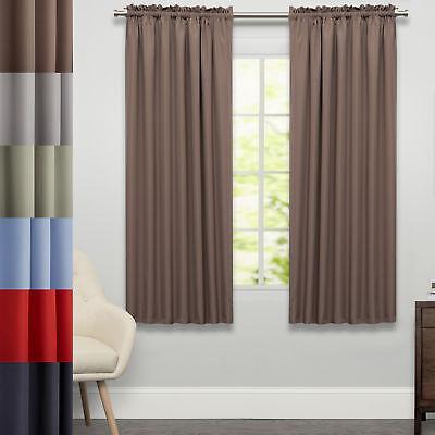Ribcord Tailored Window Curtain Single Panel  63