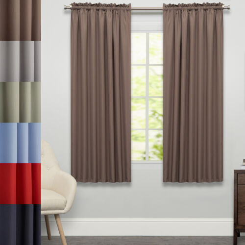 Ribcord Tailored Window Curtain Single Panel  63″x54″ Curtains & Drapes