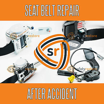 SEAT BELT REPAIR PRETENSIONER REBUILD RESET RECHARGE SERVICE AFTER ACCIDENT
