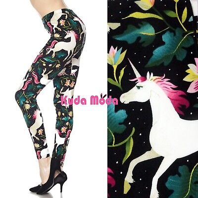 Women Fantasy Unicorn Ankle Legging Halloween Party Club Cute Legging Pants
