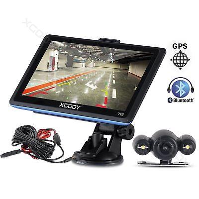 "7"" Truck Car GPS Navigation Bluetooth 8GB FM +Rearview camera night vision XGODY"