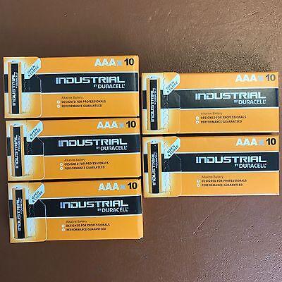 50 Duracell AAA Industrial Procell Alkaline Battery Triple A 1.5V MN2400 LR03