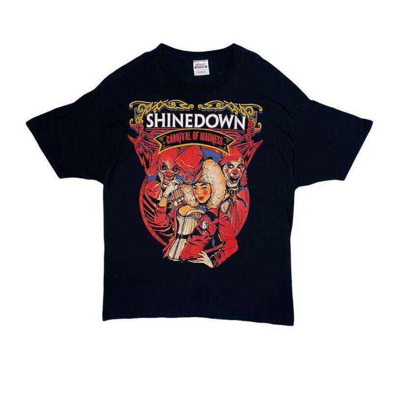 Shinedown Carnival Of Madness 2010 Tour Shirt XL