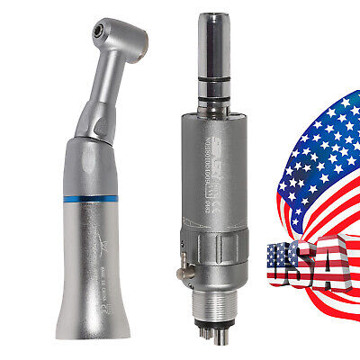 2 Dental Slow Low Speed Push Button Contra Angle Air Motor 4h Handpiece Fit Nsk