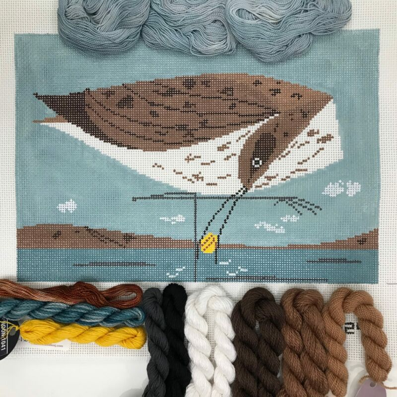 Meredith Collection Handpainted Needlepoint kit Eskimo Curlew Charley Harper brd
