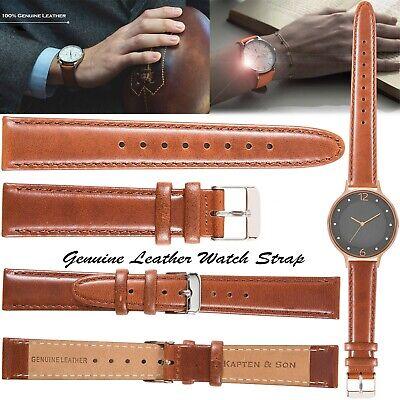 Kapten & Son Genuine Leather WristWatch Watch Strap Straps Replacement 12mm 20mm