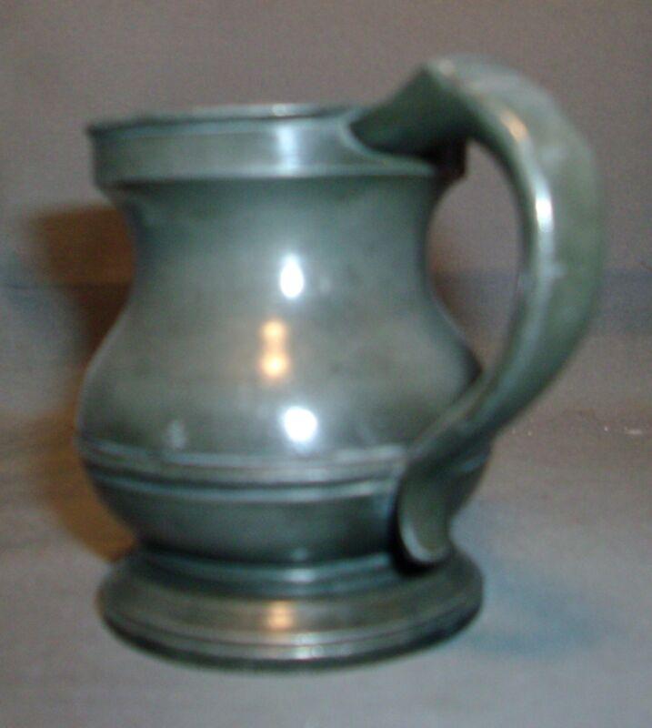 Small Antique Pewter Measure Tankard Mug 19th century 1800
