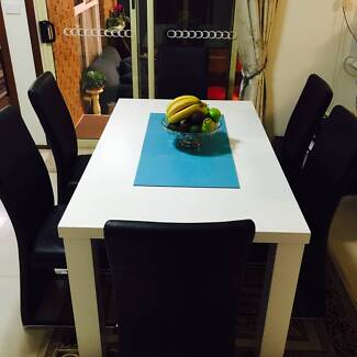 The 95% Brand New Dinning Table with 6 Luxury Leather Chair Vermont South Whitehorse Area Preview